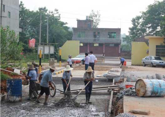 重庆地磅基础施工现场